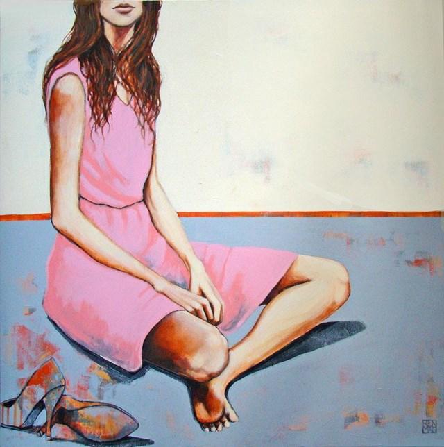 obrazy malowane, renata magda, ukryte spojrzenia