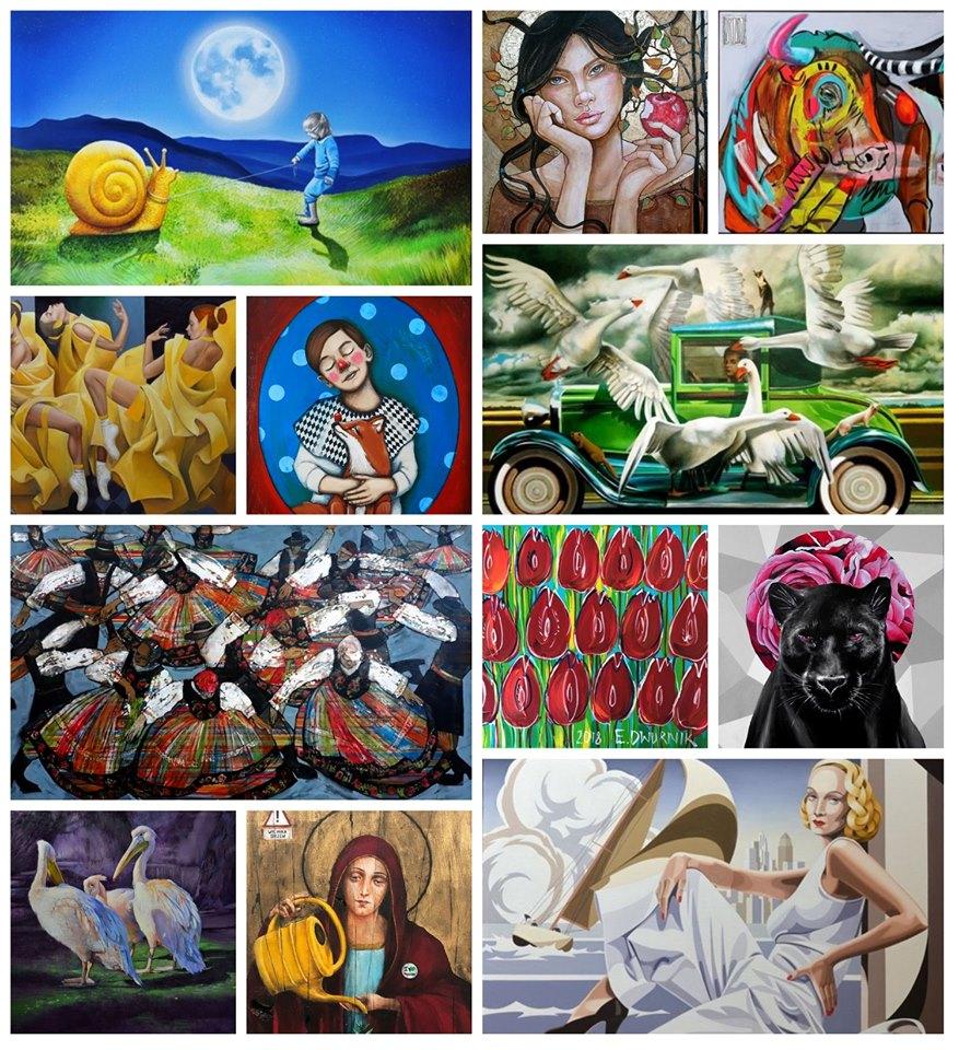 obrazy malowane na XXXVI aukcji sztuki