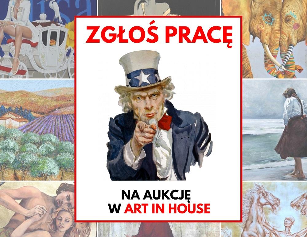 Zbieramy prace na aukcje w Art in House!